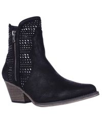 MIA | Black Joaquin Jewel Studded Western Ankle Booties | Lyst