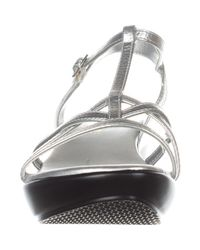 Callisto - Metallic Womens Caressa Open Toe Casual Ankle Strap Sandals - Lyst