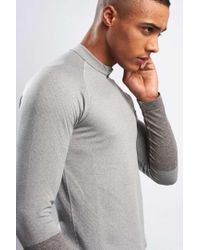 Falke - Gray Zip-up Long Sleeve Running Top for Men - Lyst