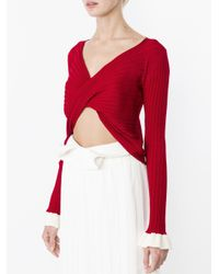 Ellery - White Rational Fluted Twill Maxi Skirt - Lyst