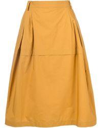 Sofie D'Hoore - Brown Midi Skirt - Lyst
