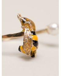 Delfina Delettrez - Metallic 'little Bee' Ring - Lyst