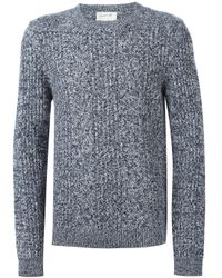 A.P.C. | Blue Loose Knit Crew Neck Sweater for Men | Lyst
