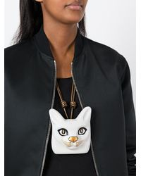 Loewe - Multicolor Cat Face Necklace - Lyst