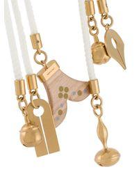 Chloé - White 'janis' Tie Necklace - Lyst