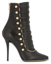 Balmain   Black 'alienor' Lace-up Ankle Boots   Lyst