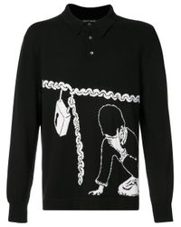 Enfants Riches Deprimes - Black Boy With Chain Long Sleeve Polo Shirt for Men - Lyst