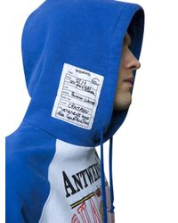 Vetements - White X Champion Print Hoodie for Men - Lyst