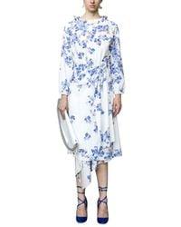 Vetements | Blue White Floral Dress | Lyst
