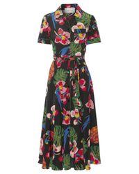 Valentino | Multicolor Printed Silk Crepe De Chine Shirt Dress | Lyst