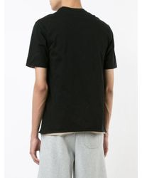T By Alexander Wang - Black Double Layered T-shirt for Men - Lyst