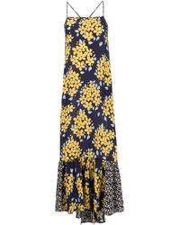 SUNO - Multicolor Floral Print Maxi Dress - Lyst