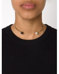 Nektar De Stagni - Metallic Pearl And Onyx Choker - Lyst