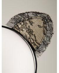 Maison Michel - Black 'heidi Lace Cat Ears' Headband - Lyst