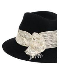 Maison Michel - Black Henrietta Felt Hat - Lyst