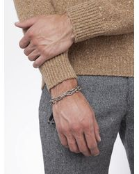 M. Cohen - Black Caged Chain Link Bracelet for Men - Lyst