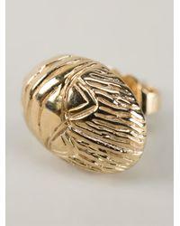 Aurelie Bidermann | Metallic Scarab Earrings | Lyst
