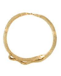 Aurelie Bidermann | Metallic 'tao' Snake Necklace | Lyst