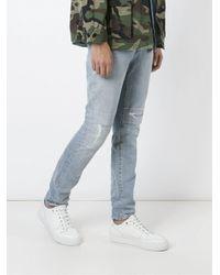 Saint Laurent - Blue Stonewashed Jeans for Men - Lyst