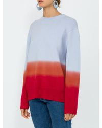 Proenza Schouler - Red Cashmere Wool Dip-dyed Sweater - Lyst