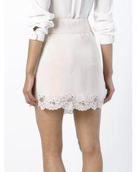 Chloé - Pink Lace Detail Skirt - Lyst