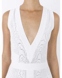 Balmain - White Knitted-jacquard Dress - Lyst