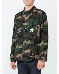 Valentino - Green 'beauty Is A Birthright' Camouflage Overshirt for Men - Lyst