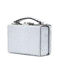 Mark Cross - White Grace Python Box Bag - Lyst