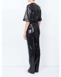 Galvan - Black Galaxy Sequin Jumpsuit - Lyst