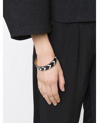 Givenchy - Black Chevron Pattern Bracelet - Lyst