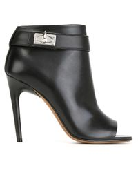Givenchy - Black 'shark Lock' Booties - Lyst