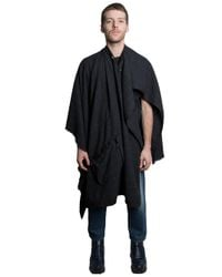 1-100 | Gray Wool Cashmere Cape for Men | Lyst