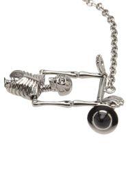 Vivienne Westwood - Metallic Skeleton Pendant Bracelet - Lyst
