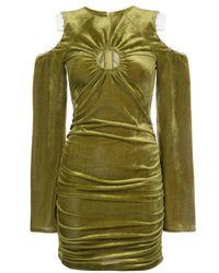 Neith Nyer - Green Slashed Shoulder O-ring Dress - Lyst