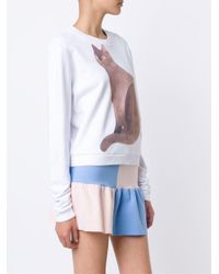 Arthur Arbesser - White Signature Cat Sweater - Lyst