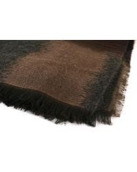 Paul Smith - Paul Smith Brown Square Mainline Jacquard Wool Blend Scarf for Men - Lyst