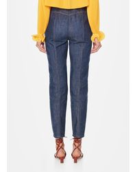 Tibi - Blue Raw Denim Jamie Pants - Lyst