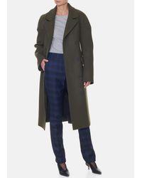 Tibi - Multicolor Felted Wool Drop Shoulder Corset Coat - Lyst