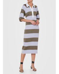 Tibi - Gray Rugby Long Dress - Lyst