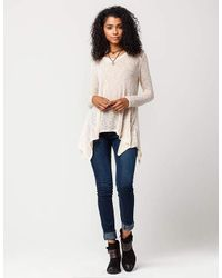 Blu Pepper - Natural Lace Knit Womens Sweater - Lyst