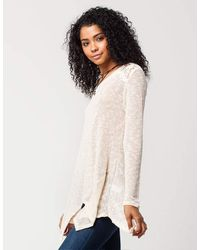 Blu Pepper - Natural Lace Knit Womens Sweater - Lyst