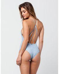 Billabong - Blue Lacy Daze Womens Bodysuit - Lyst