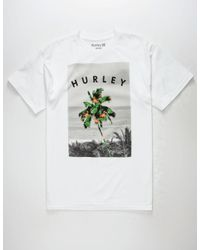 9e4ba452cf3ec7 Hurley Aloha Mingo Mens T-shirt in White for Men - Lyst