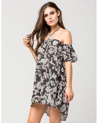 Billabong - Black Off The Shoulder Dress - Lyst