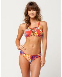 Rip Curl - Red Tropicana Bikini Top - Lyst