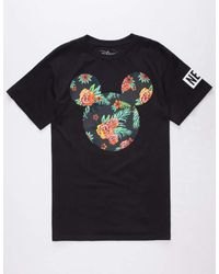 Neff   Black Disney Collection Astro Floral Mickey Mens T-Shirt for Men   Lyst