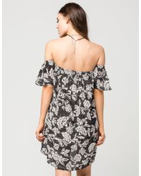 Billabong - Black Off The Shoulder Dress - Lyst
