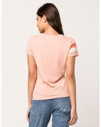 Rip Curl - Pink Sun Stoned Womens Pocket Tee - Lyst