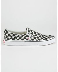 9709f762cc20 Lyst - Vans X Peanuts Snoopy Checkerboard Classic Slip-on Shoes