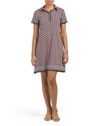 Tj Maxx - Blue Printed Jersey Shirt Dress - Lyst
